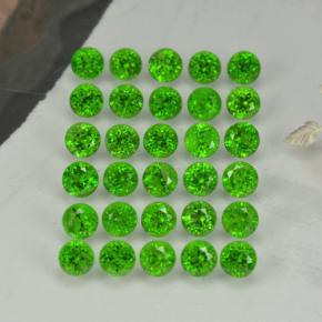 Green Chrome Diopside Gem - 0.1ct Round Facet (ID: 468343)