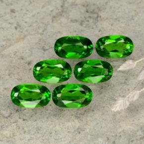 Green Chrome Diopside Gem - 0.3ct Oval Facet (ID: 469102)
