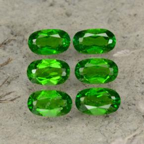 Green Chrome Diopside Gem - 0.3ct Oval Facet (ID: 469105)