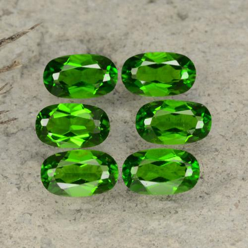 Green Chrome Diopside Gem - 0.3ct Oval Facet (ID: 469108)