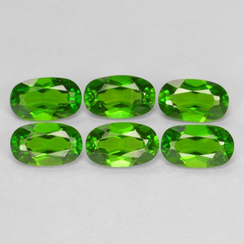Green Chrome Diopside Gem - 0.3ct Oval Facet (ID: 469111)