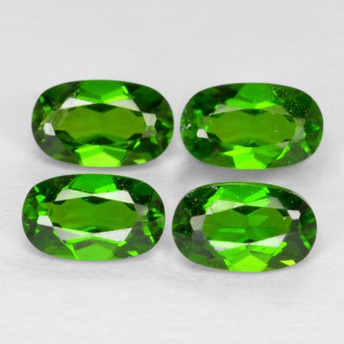 Green Chrome Diopside Gem - 0.3ct Oval Facet (ID: 469166)