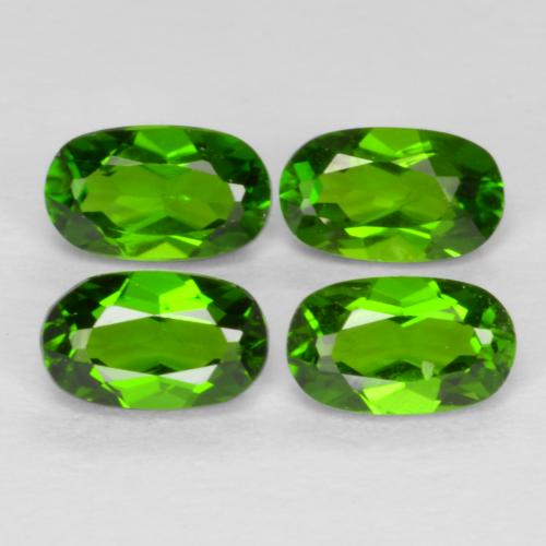Medium-Dark Green Diopside Chrome gemme - 0.3ct Ovale facette (ID: 469167)