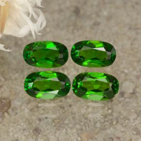 0.3ct Oval Facet Green Chrome Diopside Gem (ID: 469170)