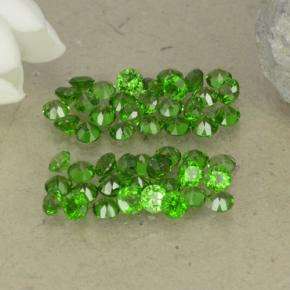 0ct Round Facet Green Chrome Diopside Gem (ID: 469520)