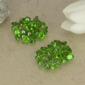 0ct Round Facet Green Chrome Diopside Gem (ID: 469523)