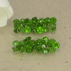 0ct Round Facet Green Chrome Diopside Gem (ID: 469525)