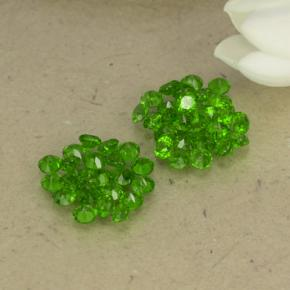 0ct Round Facet Green Chrome Diopside Gem (ID: 469526)