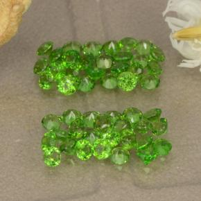 Green Chrome Diopside Gem - 0ct Round Facet (ID: 469699)