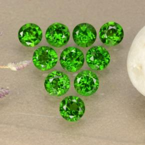 0.1ct Round Facet Green Chrome Diopside Gem (ID: 473864)