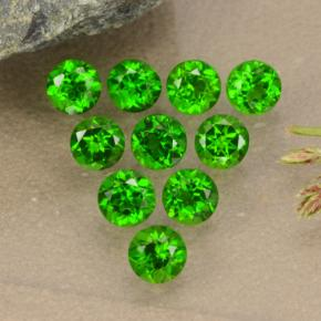 0.1ct Round Facet Green Chrome Diopside Gem (ID: 473866)