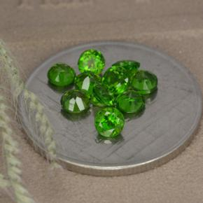 Green Chrome Diopside Gem - 0.2ct Round Facet (ID: 478694)