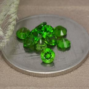 0.1ct Round Facet Green Chrome Diopside Gem (ID: 478696)