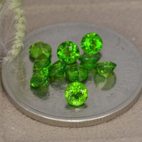 Green Chrome Diopside Gem - 0.1ct Round Facet (ID: 478701)