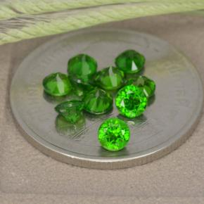 0.2ct Round Facet Green Chrome Diopside Gem (ID: 478704)