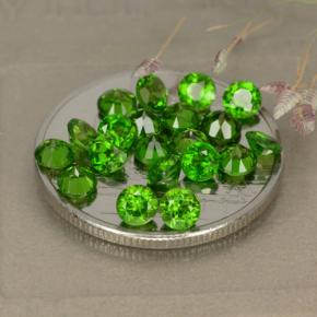 0.14 ct Facette ronde Medium-Dark Green Diopside Chrome Pierres précieuses 3.18 mm  (ID produit : 479991)