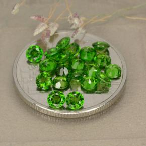 0.1ct Facette ronde Medium-Dark Green Diopside Chrome gemme (ID: 479995)