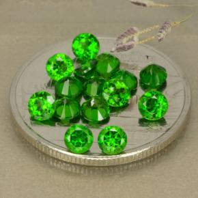 Green Chrome Diopside Gem - 0.1ct Round Facet (ID: 480341)