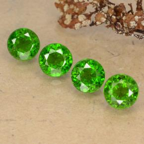 Green Chrome Diopside Gem - 0.6ct Round Facet (ID: 488933)