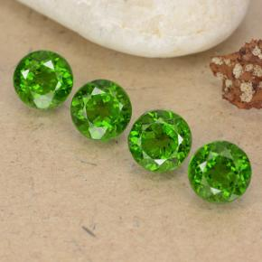 Green Chrome Diopside Gem - 0.6ct Round Facet (ID: 488967)