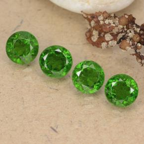 Green Chrome Diopside Gem - 0.6ct Round Facet (ID: 488970)