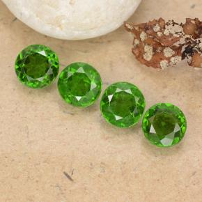 Green Chrome Diopside Gem - 0.5ct Round Facet (ID: 488972)