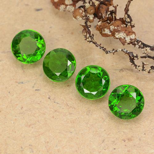 Green Chrome Diopside Gem - 0.5ct Round Facet (ID: 489039)