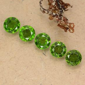 Green Chrome Diopside Gem - 0.5ct Round Facet (ID: 489060)