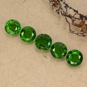 Green Chrome Diopside Gem - 0.5ct Round Facet (ID: 489063)