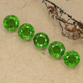 0.6ct Round Facet Green Chrome Diopside Gem (ID: 489066)