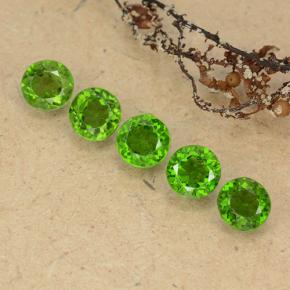 0.5ct Round Facet Medium-Dark Green Chrome Diopside Gem (ID: 489067)