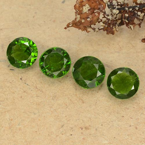 thumb image of 0.5ct Round Facet Green Chrome Diopside (ID: 489072)