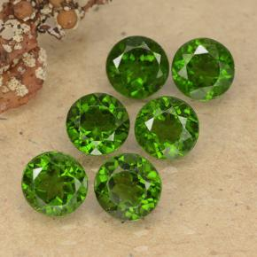 thumb image of 0.6ct Round Facet Green Chrome Diopside (ID: 489076)