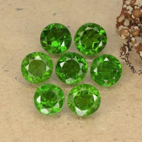 Green Chrome Diopside Gem - 0.5ct Round Facet (ID: 489078)