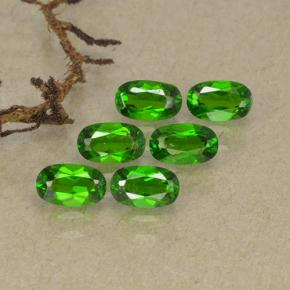 Green Chrome Diopside Gem - 0.3ct Oval Facet (ID: 493755)