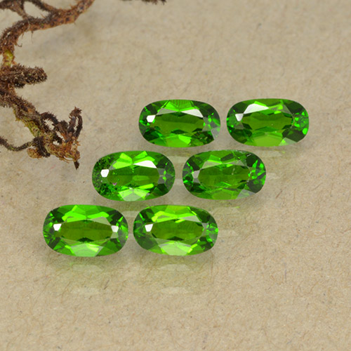 Green Chrome Diopside Gem - 0.3ct Oval Facet (ID: 493756)