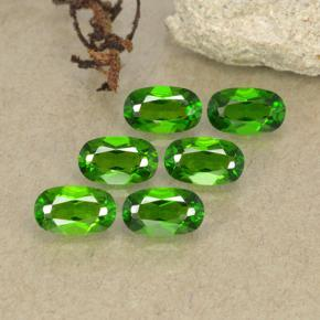 Green Chrome Diopside Gem - 0.3ct Oval Facet (ID: 493758)