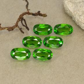 Green Chrome Diopside Gem - 0.2ct Oval Facet (ID: 493762)