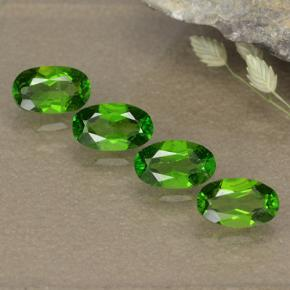 Green Chrome Diopside Gem - 0.3ct Oval Facet (ID: 496111)