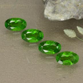 Green Chrome Diopside Gem - 0.3ct Oval Facet (ID: 496112)