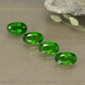0.3ct Oval Facet Green Chrome Diopside Gem (ID: 496113)