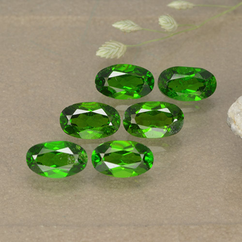 0.3ct Oval Facet Medium Green Chrome Diopside Gem (ID: 496114)