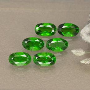 Green Chrome Diopside Gem - 0.3ct Oval Facet (ID: 496115)