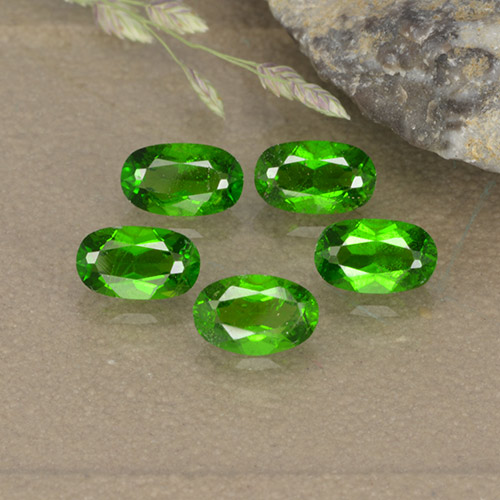 0.3ct Oval Facet Medium Green Chrome Diopside Gem (ID: 496118)