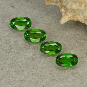0.2ct Oval Facet Green Chrome Diopside Gem (ID: 497948)