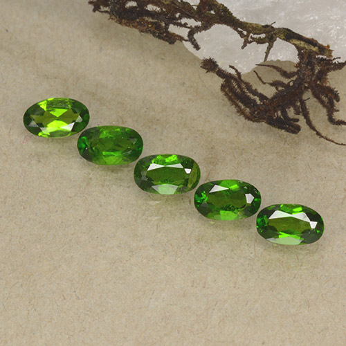 Green Chrome Diopside Gem - 0.2ct Oval Facet (ID: 498190)