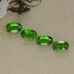 0.3ct Oval Facet Green Chrome Diopside Gem (ID: 498192)