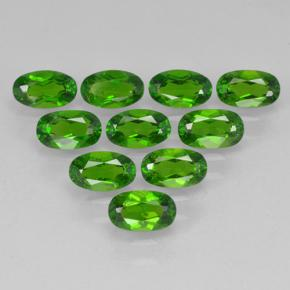 Green Chrome Diopside Gem - 0.3ct Oval Facet (ID: 502071)