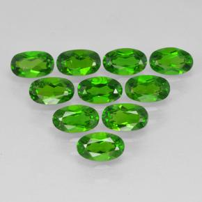 Green Chrome Diopside Gem - 0.3ct Oval Facet (ID: 502073)