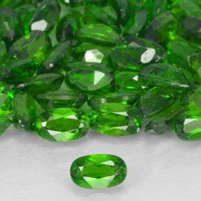Green Chrome Diopside Gem - 0.2ct Oval Facet (ID: 503398)